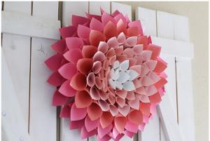 dahlia wreath